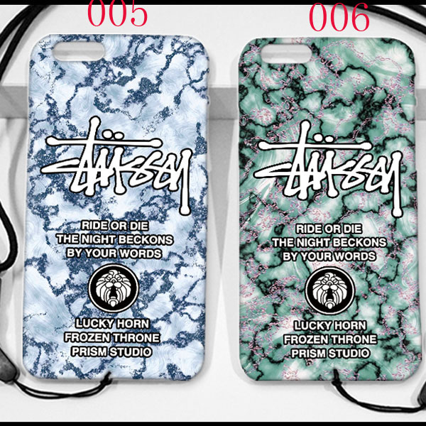デザイン STUSSY GALAXY S8/S8PLUSカバー